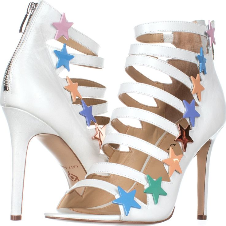Katy Perry The The The Stella Star Strappy Heels 867, Weiß Multi, 10 US d3e96a