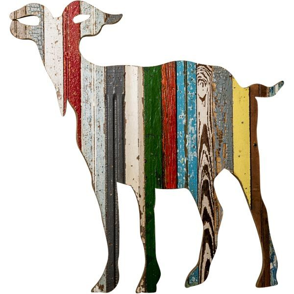 Recycled Goat Wall Art The Southern Home Featuring French Country Shabby Chic Decor