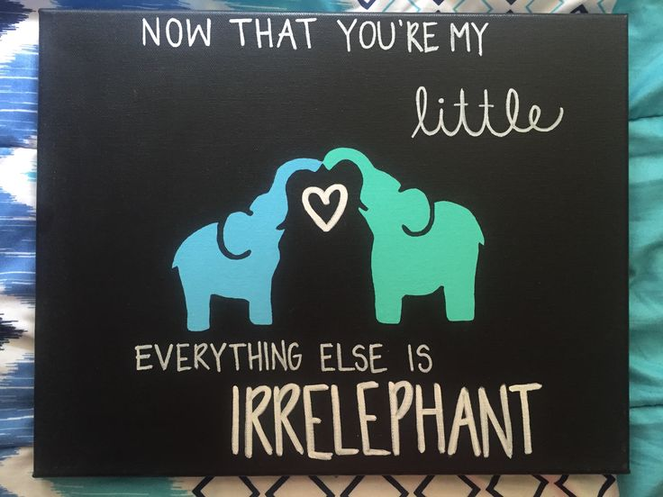 Irrelephant Big/Little Elephant canvas