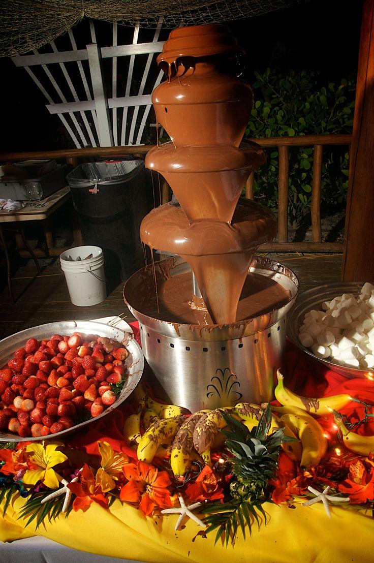 Chocolate Fountain Wedding Buffet Displays Pinterest