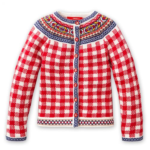 Oilily vest - like the red and white check pattern....classic look.