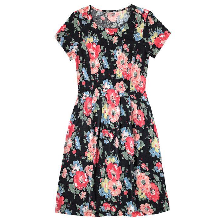 Summer Bloom Pleat Front Jersey Dress | Fashion | CathKidston