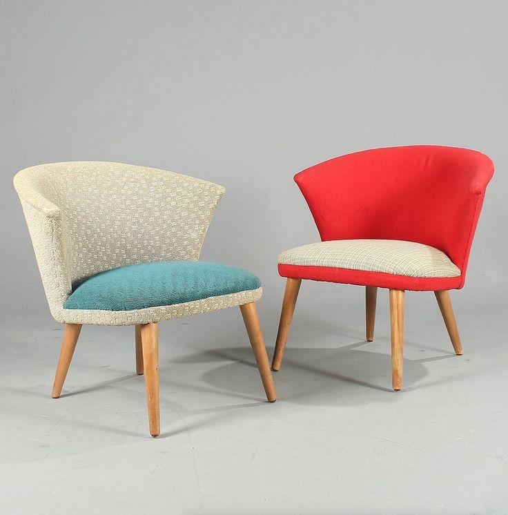 Bent Møller Jepsen; Beech 'TV' Chairs for Simo, 1950s.