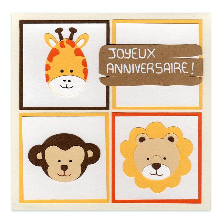 Carte Anniversaire Enfant Safari, Collection Lovely Scrap, Lovely Carte