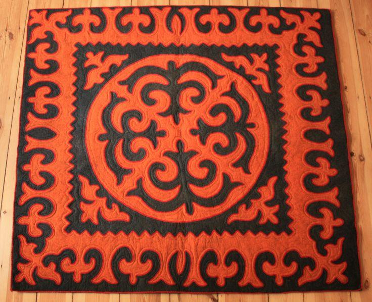 Shyrdak black / orange