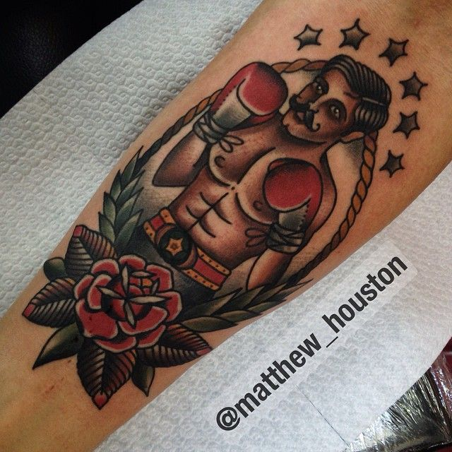 American traditional tattoos — illustratedgentleman: Fun boxer on Jan. #boxer...