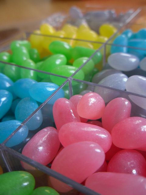 Jelly beans. Don't forget to brush your teeth!