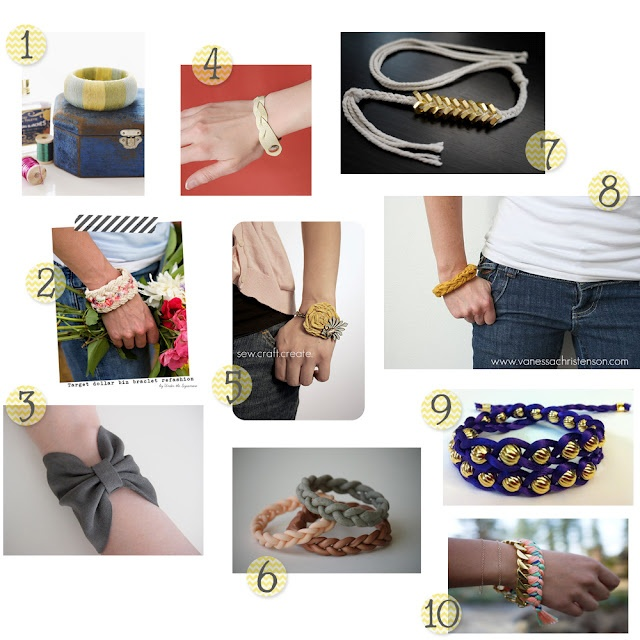 DIY bracelet round-up...love all of these!