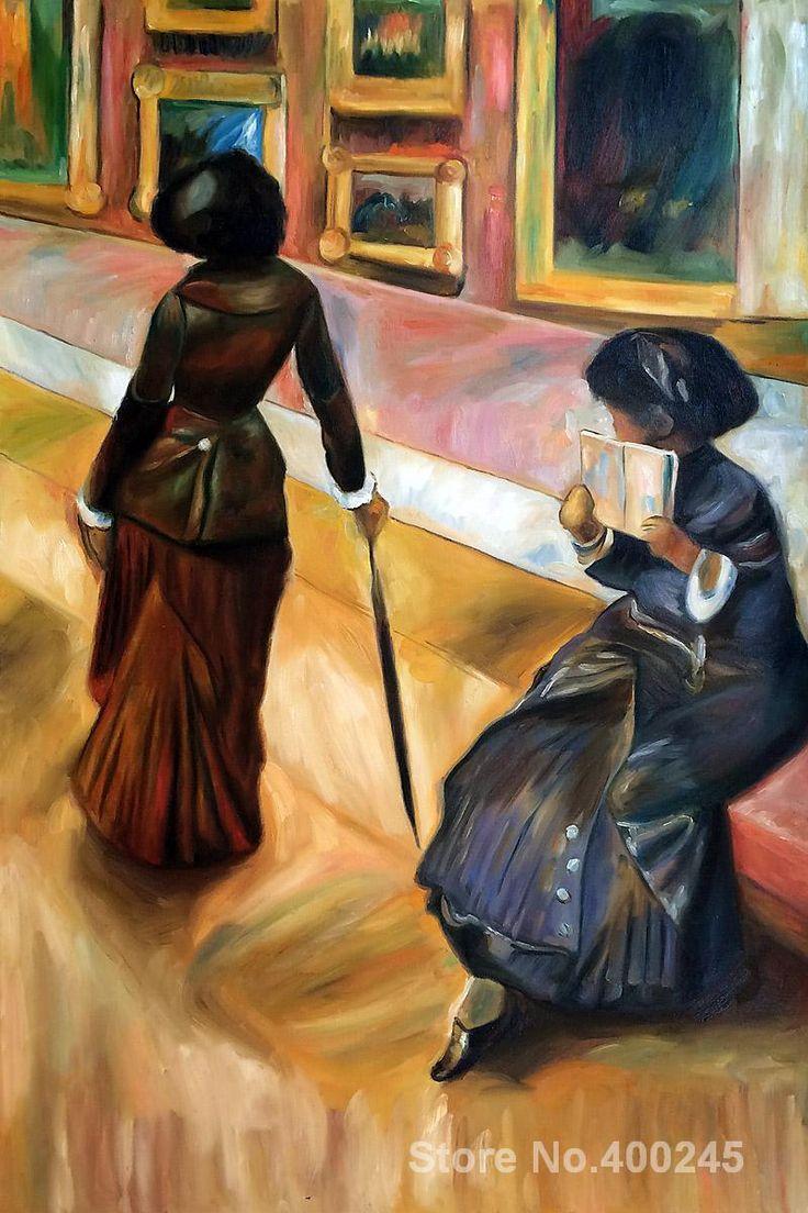 Мэри Кассат в Лувре эдгара Дега картины На продажу Домашнего Декора Ручной росписью Высокое качество