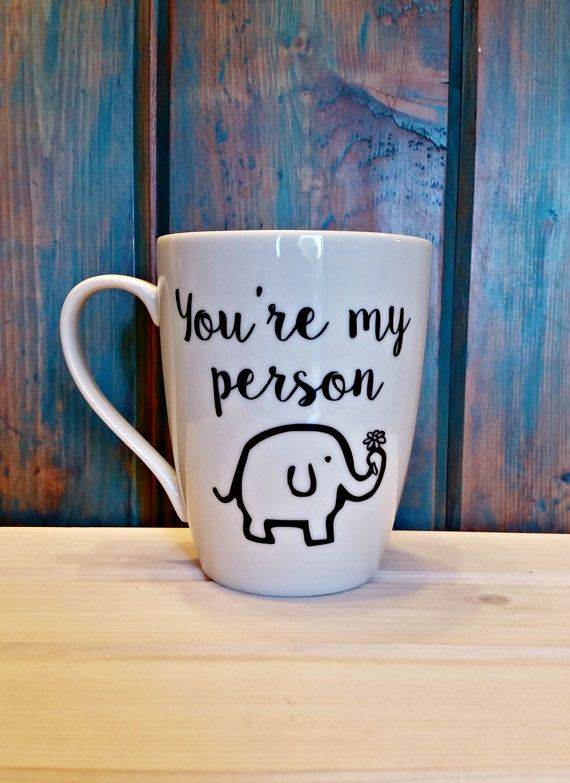 You're my person coffee mug elephant mug by TravelingTreeDesign