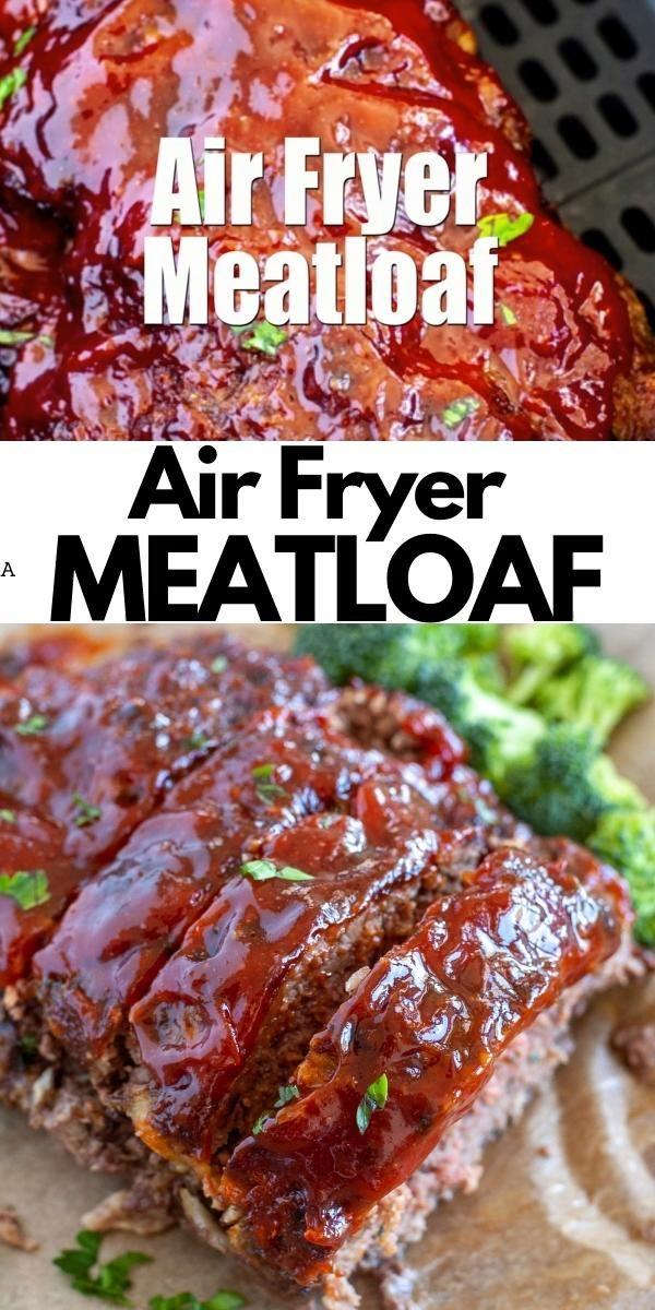 Air Fryer Meatloaf [Video] in 2020 Air fryer recipes
