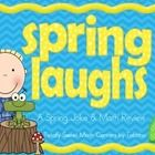 Spring Laughs- A Math Review and Spring Joke Walk the Room Gr.4  Are you ready to add some movement and laughter into your math activities this Spring? The Spring Laughs Walk the Room activity gets your students up and moving while solving grade level math standards and answering hilarious Spring themed jokes!