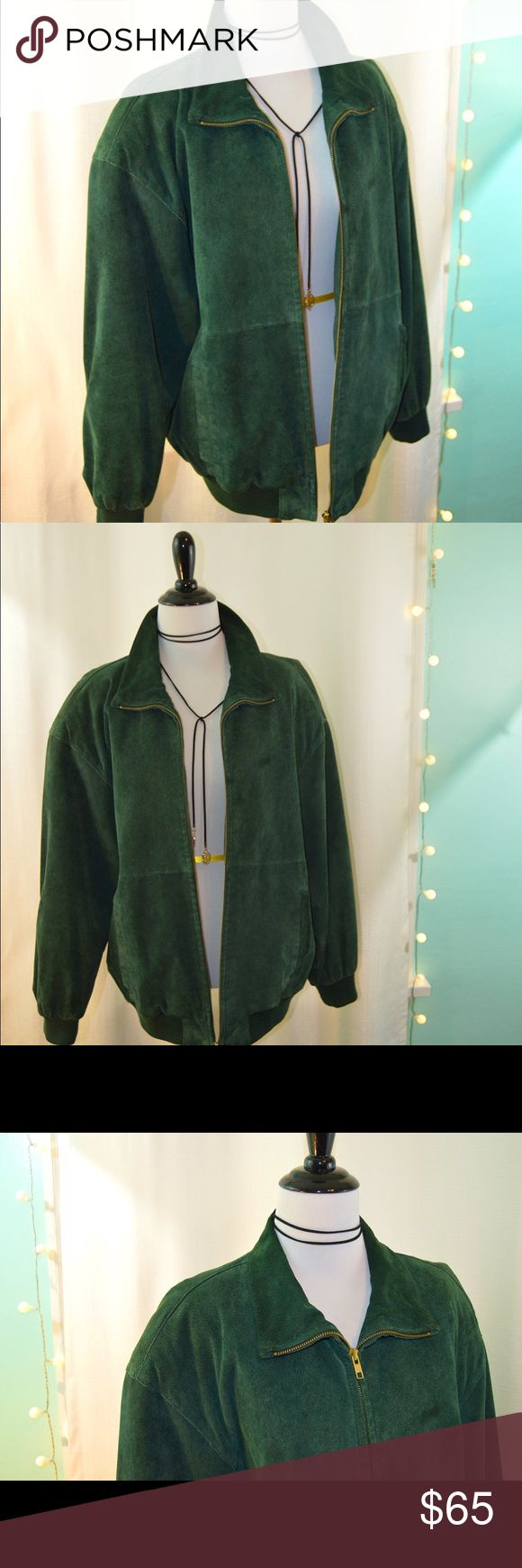"""PELLE 100% Genuine Suede Leather Jacket Rich emerald green suede jacket made by iconic brand Pelle. Excellent quality and in good pre-owned condition, will keep you very warm. Women's size Small.  Measurements:  Length back 25.5"""" Sleeve length 20.5"""" Pit to pit 19"""" Pelle Pelle Jackets & Coats"""