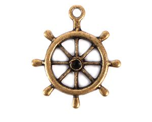 Boat Wheel Charm (Set of 12)