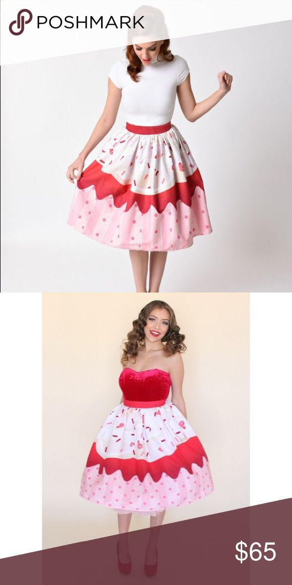 Red Sprinkle Cupcake Skirt Super cute skirt! NWT. No trades. Price is firm. Not modcloth ModCloth Skirts