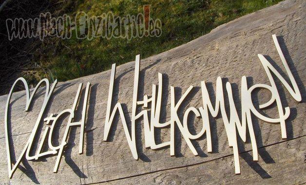 Buchstaben Amp Schriftz 252 Ge Herzlich Willkommen Aus Holz
