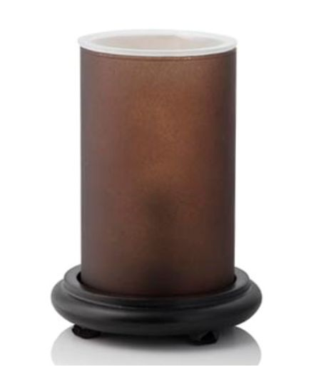 Black Simmering Light With Frosted Brown Gl