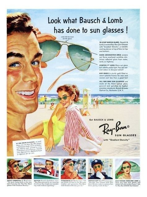 Ray-Ban Beach  RAY-BAN  The world's finest sun glasses are also the best looking.  Smart girls let good looks go to their heads when they wear eye-flattering, eye-saving Ray-Ban Sun Glasses.