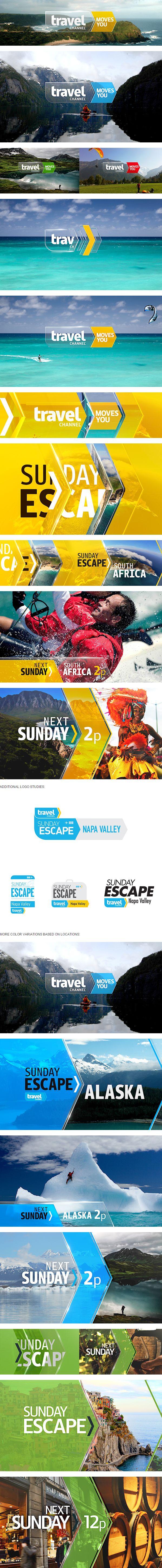 Travel Channel / Sunday Escape -- www.behance.net/gallery/18791401/Travel-Channel-Sunday-Escape