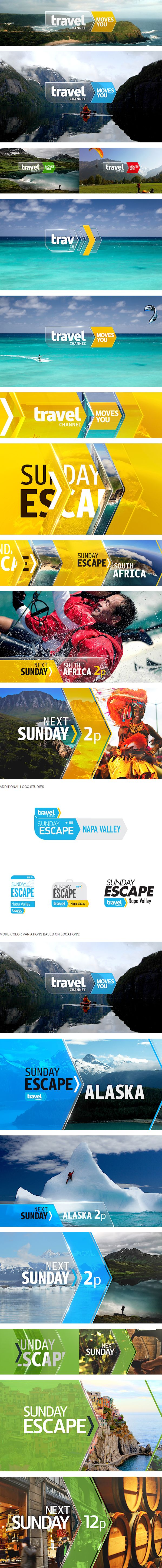 Travel Channel / Sunday Escape -- www.behance.net/gallery/18791401/Travel-Channel-Sunday-Escape