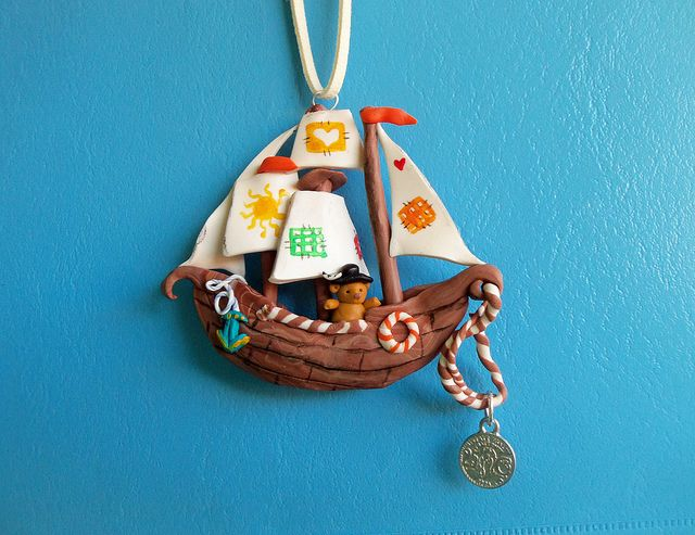 Fimo whimsical ship - by cuddly angel