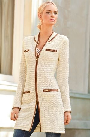 Boston Proper Textured sweater coat Striped sweater dress #bostonproper