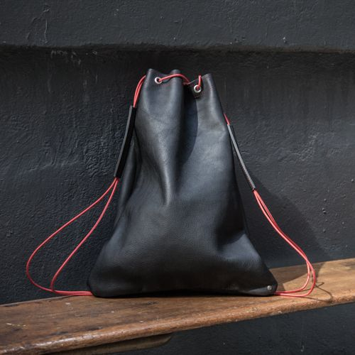 Amazing black leather bag from Urban Africa