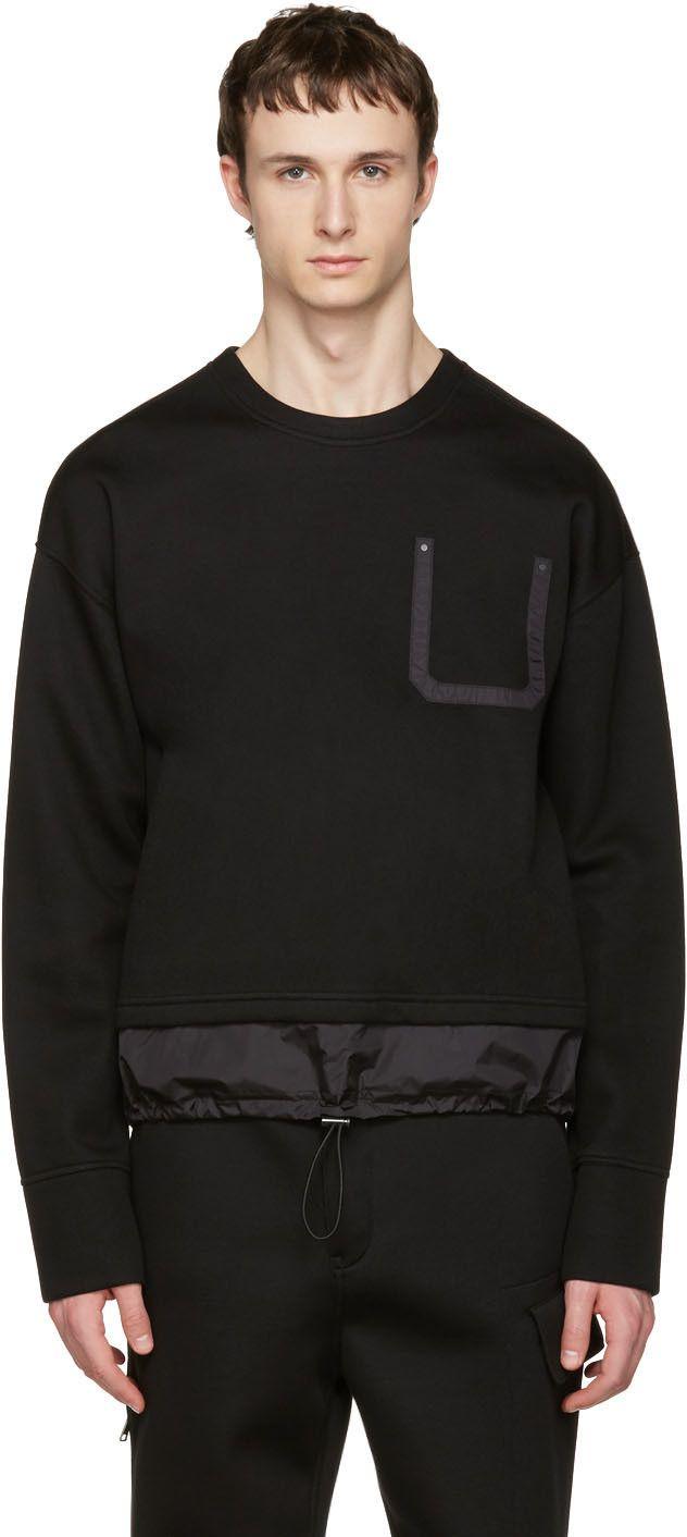 Diesel Black Gold - Black Nylon Detail Pullover