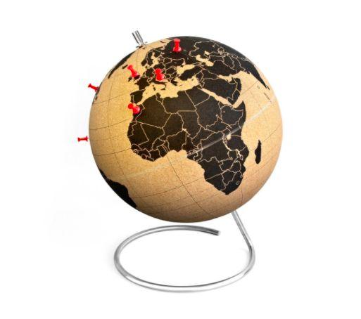 Geschenke für Reisende - Kork Globus