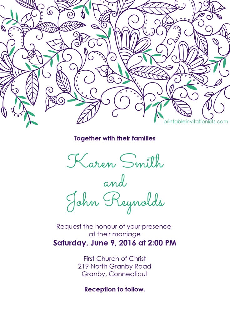 207 best wedding invitation templates (free) images on pinterest, Wedding invitations