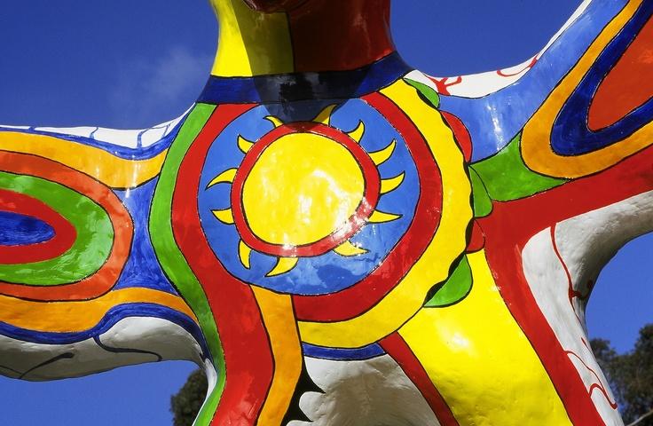 "Detail - Niki de Saint Phalle's ""Sun God"" at UC San Diego"
