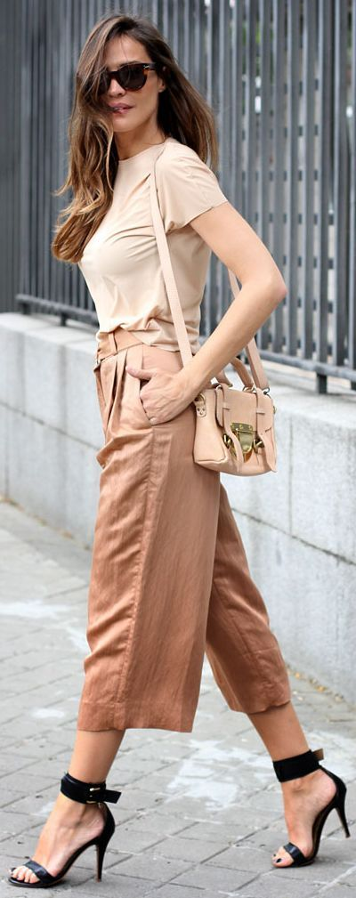 Zara Dusty Coral Women's Tailored Gaucho Pants by LadyAddict
