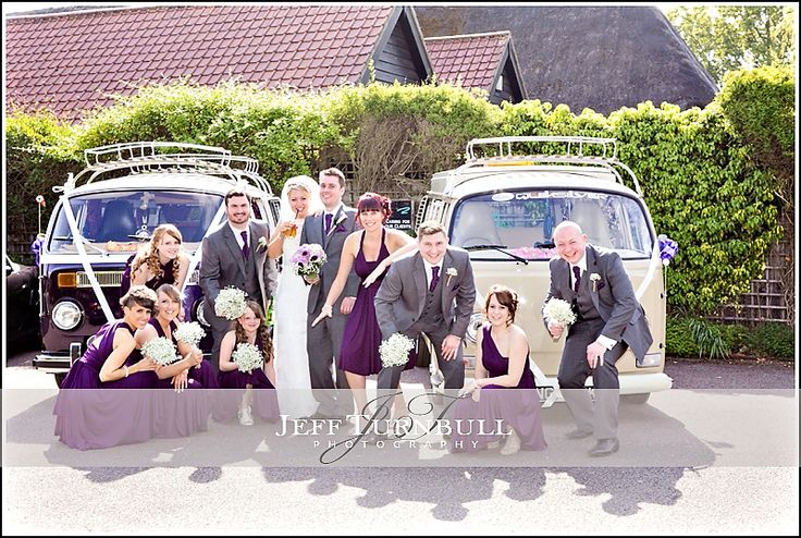What's better than a camper van at a wedding? Why, two camper vans of course. Weddings At The Barn Brasserie. Photography by www.JeffTurnbull.co.uk