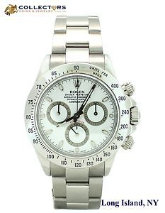 Rolex Daytona Stainless Steel White Dial Chronograph 40mm 116520 Oyster Watch #mens #rolex #daytona #stainless #steel #white #dial #chronograph #oyester #dress #watch