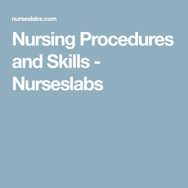 Nursing Procedures and Skills - Nurseslabs