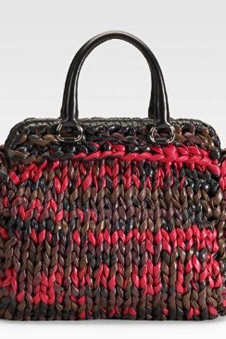 prada knit bag Diese und weitere Taschen auf www.designertaschen-shops.de entdecken