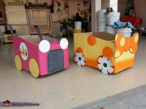 Sophia: My friends and I like to do group costumes. We decided to do mario kart characters, complete with karts. Princess Daisy wears a orange and gold/yellow dress. I made the...