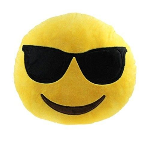 Ciamlir Soft Emoji Smiley Emoticon Yellow Round Cushion Pillow Stuffed Plush Toy Doll