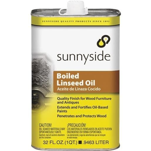 Sunnyside Corp. Boiled Linseed Oil 87232S Unit: QT, Grey metal