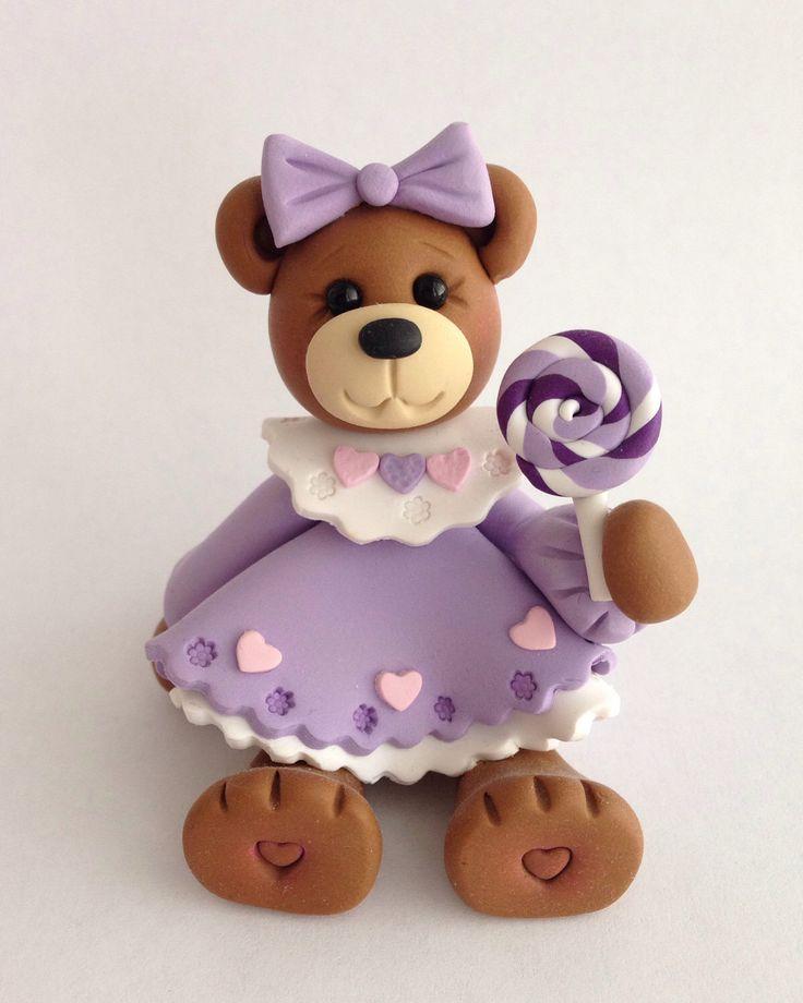 A sweet little teddy bear from my Etsy shop https://www.etsy.com/listing/467590704/teddy-bear-clay-figurine-dressed-bear