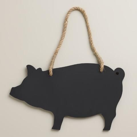Bring country-classic charm to your kitchen with our exclusive Pig Chalkboard. Perfect for jotting down shopping lists or leaving short notes, this adorable chalkboard makes a fun and functional décor accent.