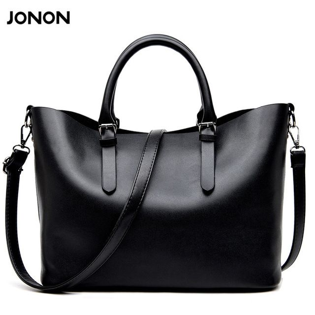 Good price Jonon Bolso Mujer Negro 2016 Fashion Hobos Women Bag Ladies Brand Leather Handbags Spring Casual Tote Bag Big Shoulder Bags For  just only $21.64 with free shipping worldwide  #womantophandlebags Plese click on picture to see our special price for you