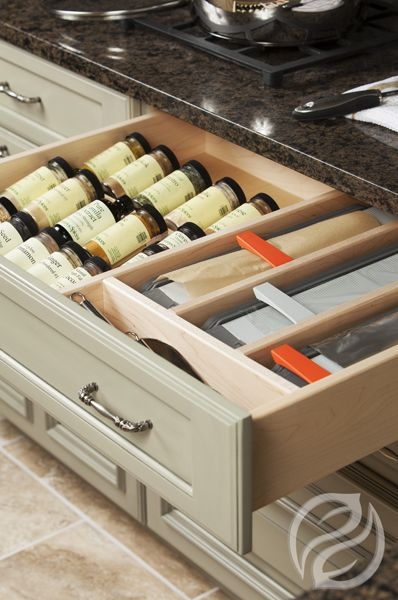 Greenfieldcabinetry Com Spice Drawer Insert With Drawer