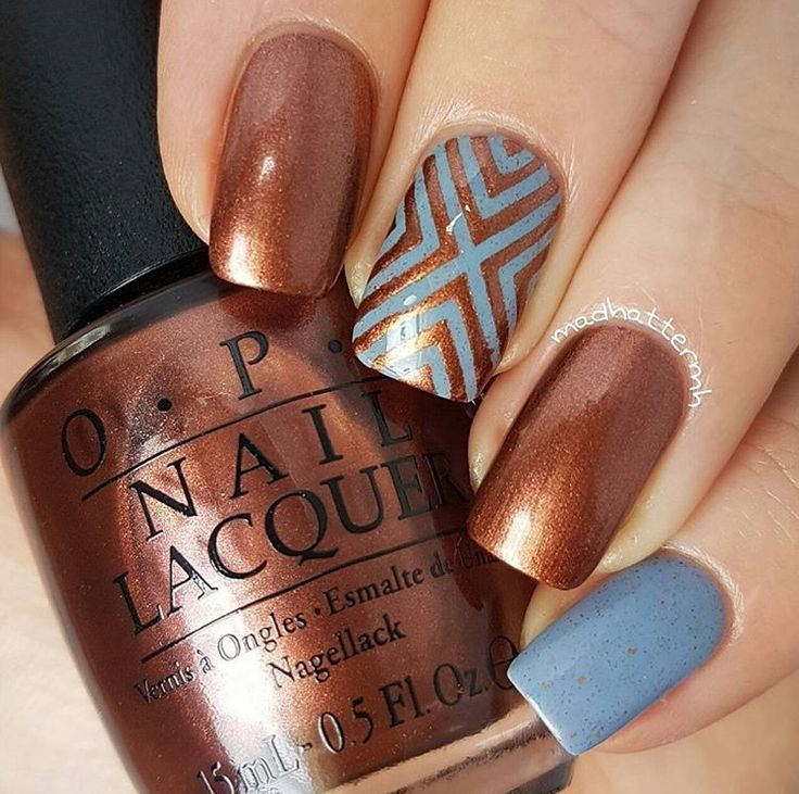 Beautiful manicure by @madhattermh using our Right Angle Nail Stencils found at snailvinyls.com. 25% SALE ENDS SUNDAY