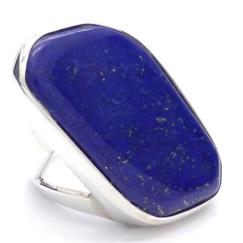 Lovely Large Lapis Ring | 925 Sterling Silver | Libra | Saggitarius | Crystal Heart Melbourne Australia since 1986