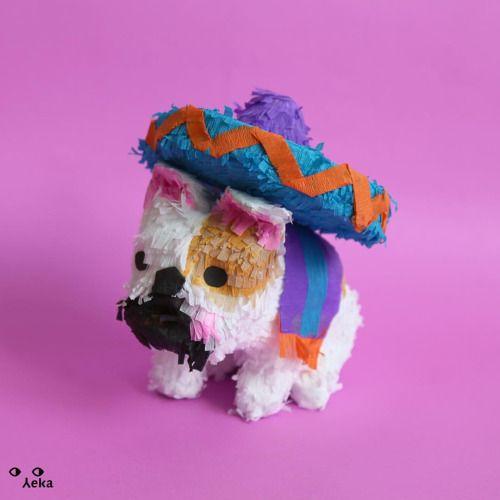 Bulldog mexican piñata  #piñata #minipiñata #dog #bulldog #bulldoglover #mexico #pinata #cute #paper #handmade