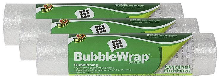Duck Brand Bubble Wrap Original Protective Packaging iwYnK 3Pack 12 in. x 5 ft.
