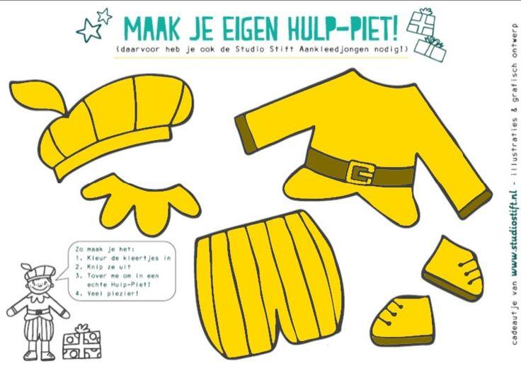 Gele kleren voor de hulp-piet