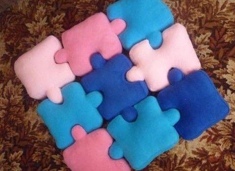 DIY Puzzle Pillows