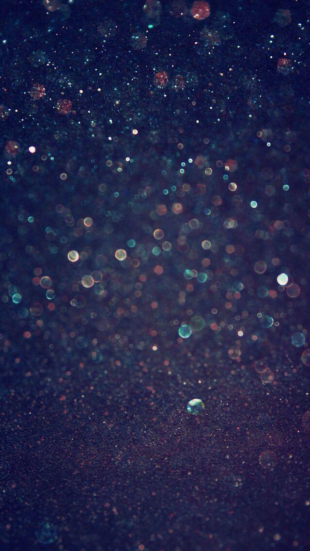 Midnight Blue Sparkle Bokeh Wallpaper